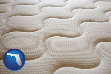 a mattress surface - with Florida icon