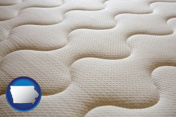 a mattress surface - with Iowa icon