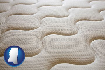 a mattress surface - with Mississippi icon