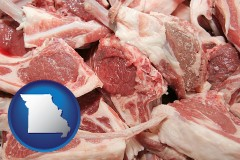 missouri map icon and lamb chops