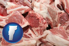 vermont map icon and lamb chops
