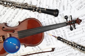 classical musical instruments - with Hawaii icon