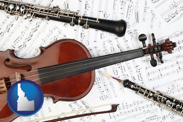 classical musical instruments - with Idaho icon