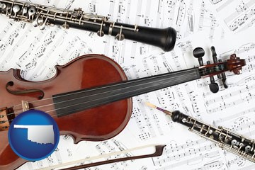classical musical instruments - with Oklahoma icon