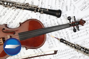 classical musical instruments - with Tennessee icon