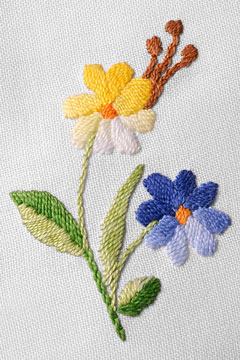 hand-embroidered needlework