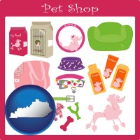 kentucky map icon and pet shop products