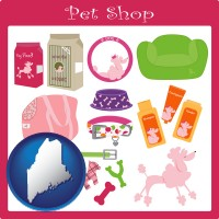 maine pet shop products