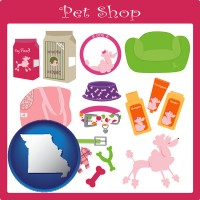 missouri pet shop products