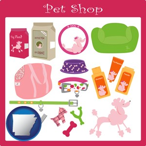 pet shop products - with Arkansas icon