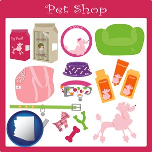 pet shop products - with Arizona icon