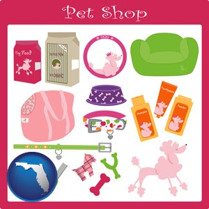 pet shop products - with Florida icon
