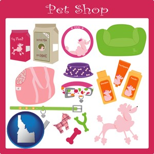 pet shop products - with Idaho icon