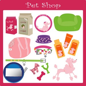 pet shop products - with Kansas icon