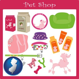 pet shop products - with New Jersey icon