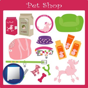 pet shop products - with New Mexico icon