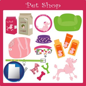 pet shop products - with Utah icon
