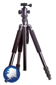 a camera tripod - with Alaska icon