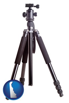 a camera tripod - with Delaware icon