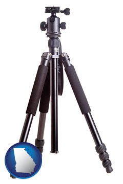 a camera tripod - with Georgia icon