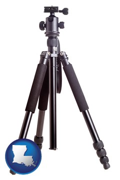 a camera tripod - with Louisiana icon