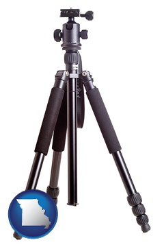 a camera tripod - with Missouri icon