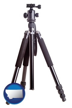 a camera tripod - with Montana icon