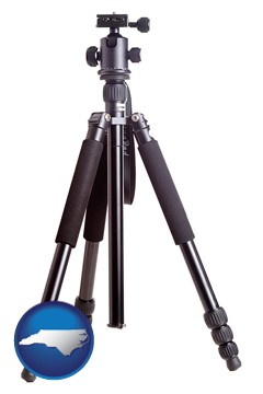 a camera tripod - with North Carolina icon