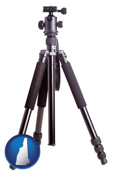 a camera tripod - with New Hampshire icon