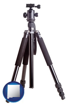 a camera tripod - with New Mexico icon