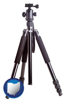 a camera tripod - with Ohio icon