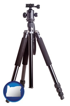 a camera tripod - with Oregon icon