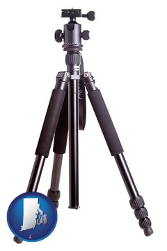 a camera tripod - with Rhode Island icon