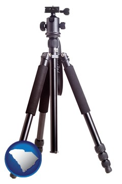 a camera tripod - with South Carolina icon