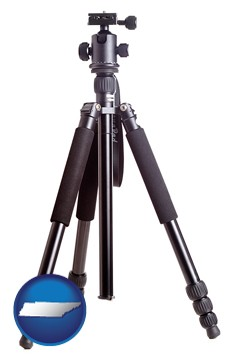 a camera tripod - with Tennessee icon