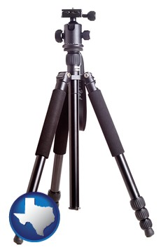 a camera tripod - with Texas icon