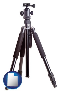 a camera tripod - with Utah icon