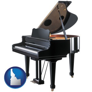 a grand piano - with Idaho icon