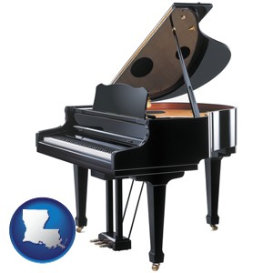 a grand piano - with Louisiana icon