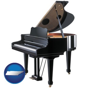 a grand piano - with Tennessee icon