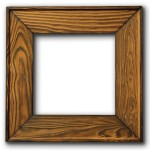 a wooden picture frame