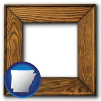arkansas a wooden picture frame