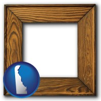 delaware a wooden picture frame