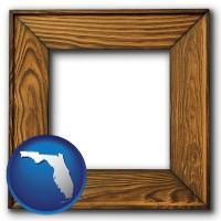 florida a wooden picture frame