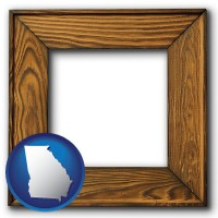 georgia a wooden picture frame