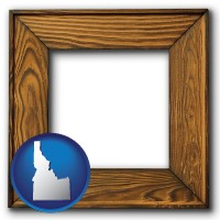 idaho a wooden picture frame
