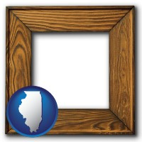 illinois a wooden picture frame