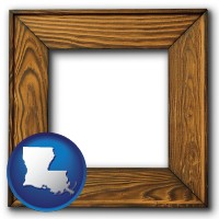 louisiana a wooden picture frame