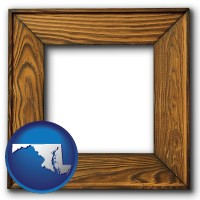 maryland a wooden picture frame