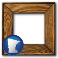 minnesota a wooden picture frame